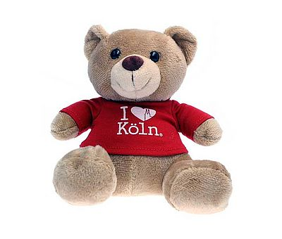 Teddy mit rotem Koeln-Pullover